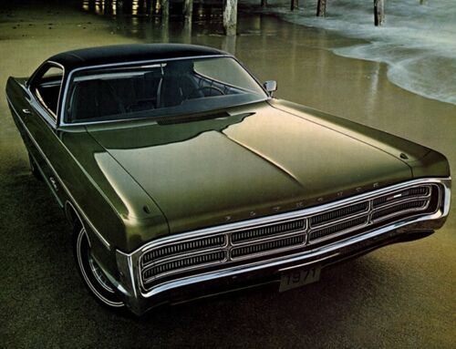 1971 Plymouth Fury III, Flat flexible Refrigerator Magnet, 40 MIL Thick