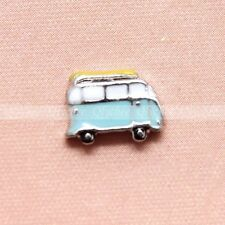 1 Pc Mini Floating Charms Blue BUS for Glass Living Memory Locket Free Shipping