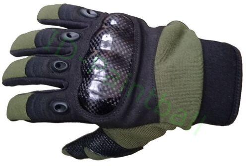 Oliv Paintball Handschuhe Schwarz