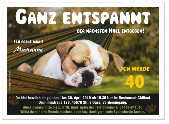 Einladungskarte lustig Hund Hund Hund Einladungen für Geburtstag witzig Text ändern 30 40 | Hervorragende Eigenschaften  | Modern Und Elegant  ed1a02
