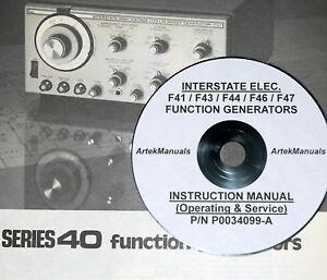 interstate elec f41 f43 f44 f46 f47 function generator manual ops rh ebay com feeltech function generator manual 33220a function generator manual