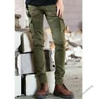 Mens Slim Fit Casual Trousers Pleated Cargo Jeans Denim Overall Skinny Pants M2