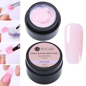 UR-SUGAR-15ml-Nagel-Poly-AcrylGel-Gellack-Gel-UV-Nail-Art-Tipps-Erweiterung-Pink