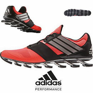 purchase cheap e3d64 89446 Details about Adidas Springblade Solyce Red Black Mens Running Shoes AF6801  NEW All Sizes
