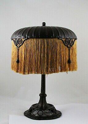 Art Nouveau Deco Table Lamp Wrought Iron Fer Forge Edgar Brandt Paul Kiss Ebay