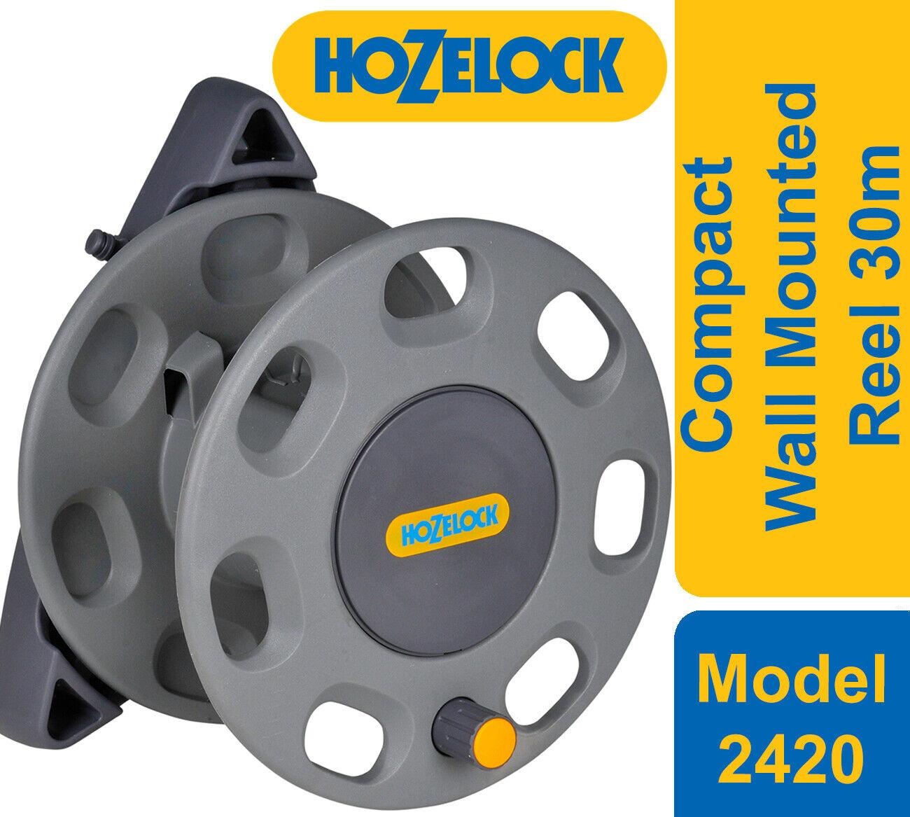 Hozelock 2420 Compact Wall Mounted Reel 30m + Reel Guide