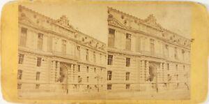 FRANCE Paris Le Louvre Photo Stereo Albumine ca 1870