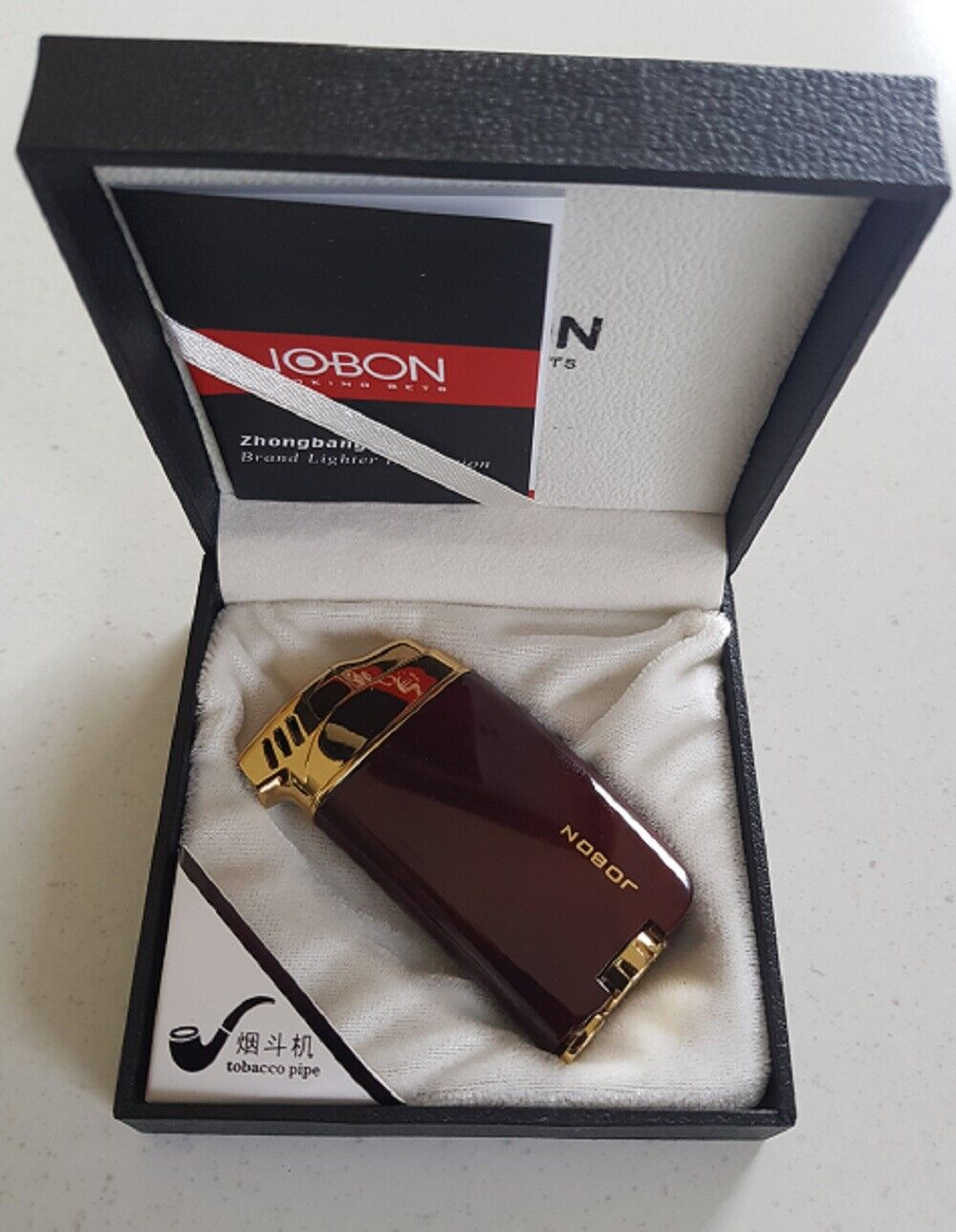 Image 31 - Jobon Quality pipe ligther gift boxed