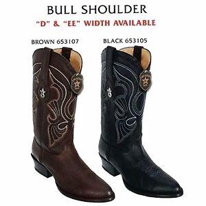 4c12c6ed3f7 Details about Los Altos, Western Men's Boots, Bull Shoulder, H-65 Round  Toe, Cowboy Boots