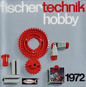 Fischer-Technik-Prospekt-hobby-1972-Spielzeug-Spielzeugprospekt-toys