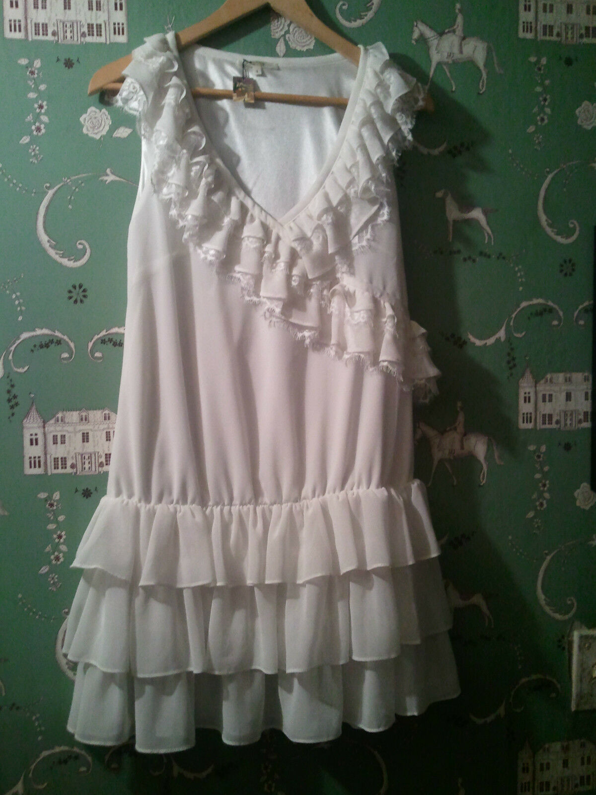 NEW ANTHROPOLOGIE VERY GATSBY Weiß DATING DRESS  REG  (sold out)