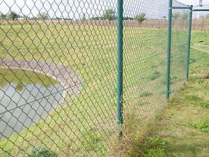 Maschendrahtzaun, Maschendraht 25,00m x 1,50m grün Komplettset Set ...