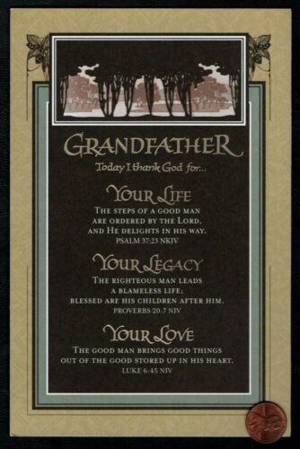 Laser Cut Birthday Greeting Card BIRTHDAY Grandfather Trees RELIGIOUS VERSES