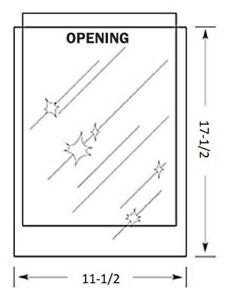 11-1/2 x 17-1/2 inch MYLAR Sleeve(s) 4mil no flap