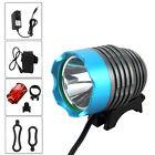Torcia 5000Lm CREE XM-T6 LED Bici Luce Bicicletta headlight Lampada 4x18650 faro