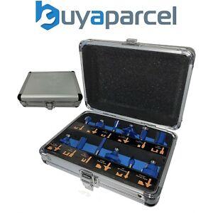 """Trade 12 Piece TCT Router Bit Set Cutter 1/4"""" Shank Tungsten Carbide Metal Case"""