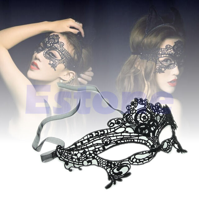 Sexy Women Queen Mask Lace Hollow Flower Party Mask Eye Masquerade Mask