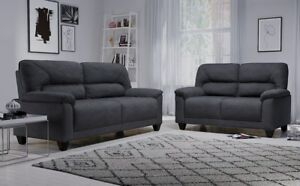Image Is Loading Austin Small Slate Grey Plush Fabric Sofa Sofas