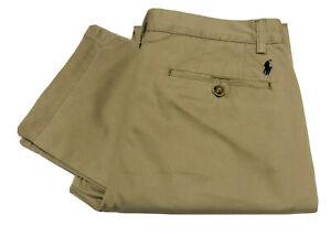 Polo-Ralph-Lauren-Classic-Fit-Plisse-Pantalon-Chino-Dans-Hudson-Tan
