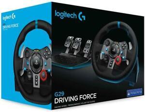 LOGITECH G29 DRIVING FORCE VOLANTE CON PEDALI PER PS5 PS4 PC MAC, NUOVO GARANZIA