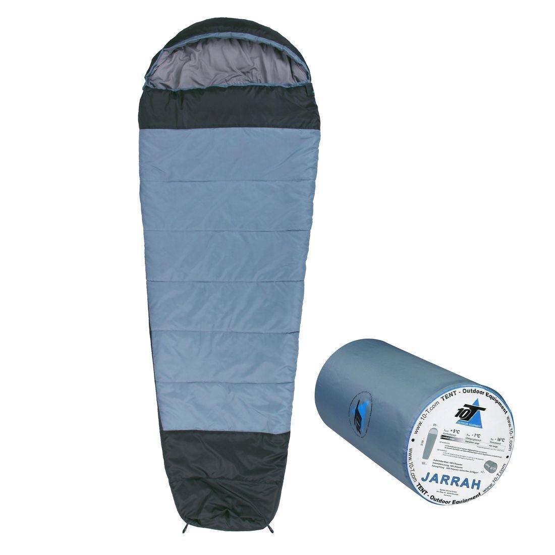 Schlafsack Jarrah 230x85 Mumie Sleeping Tasche -16 065533;65533; warm 1800g hellblau 300g m2