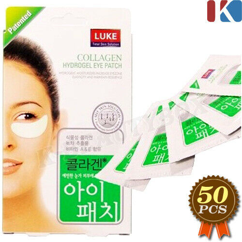 LUKE Collagen Hydrogel Eye Patches 50 pairs Eye Treatment Mask Wrinkles Care
