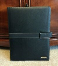 Monarch Franklin Covey Blk Faux Leather Wire Bound Note Pad Folio Planner Cover
