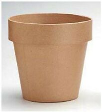 Darice Paper Mache 4-in 'Clay' Flower Pot for Crafts ~Paint, Decorate, Embellish