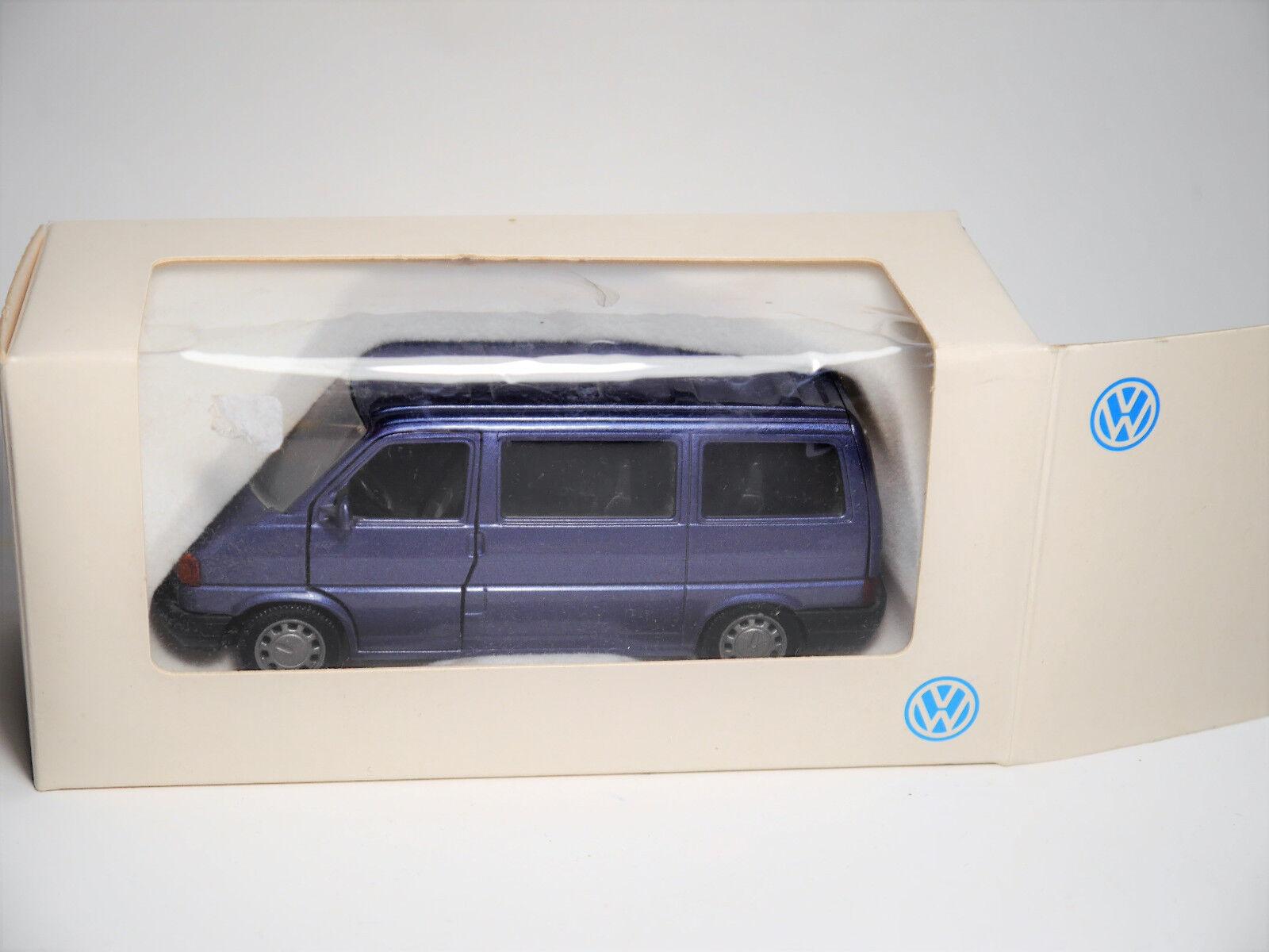 VOLKSWAGEN VW KOMBI t4 bus t4 KOMBI T 4 CARAVELLE Blu blu metallizzato, Schabak 1 43 spacciatori bed920