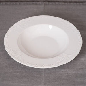 Set of 6 Soft White French Style Soup Bowl