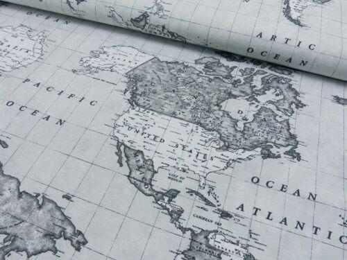 Canvas Weltkarte grau  Karte Landkarte Rapport ca 64cm