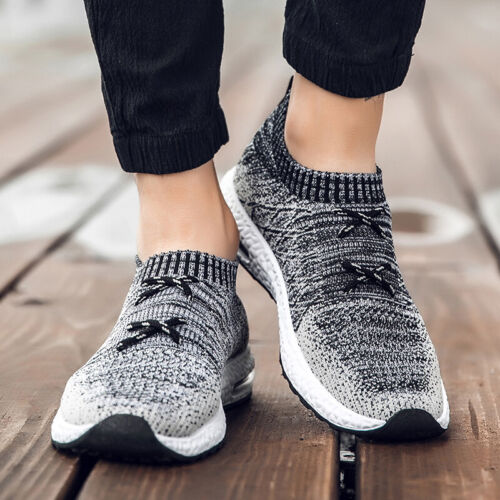 Mens Sneaker Fly-knit Sock Shoes Causal Athletic Fashion Running Sport Size39-44
