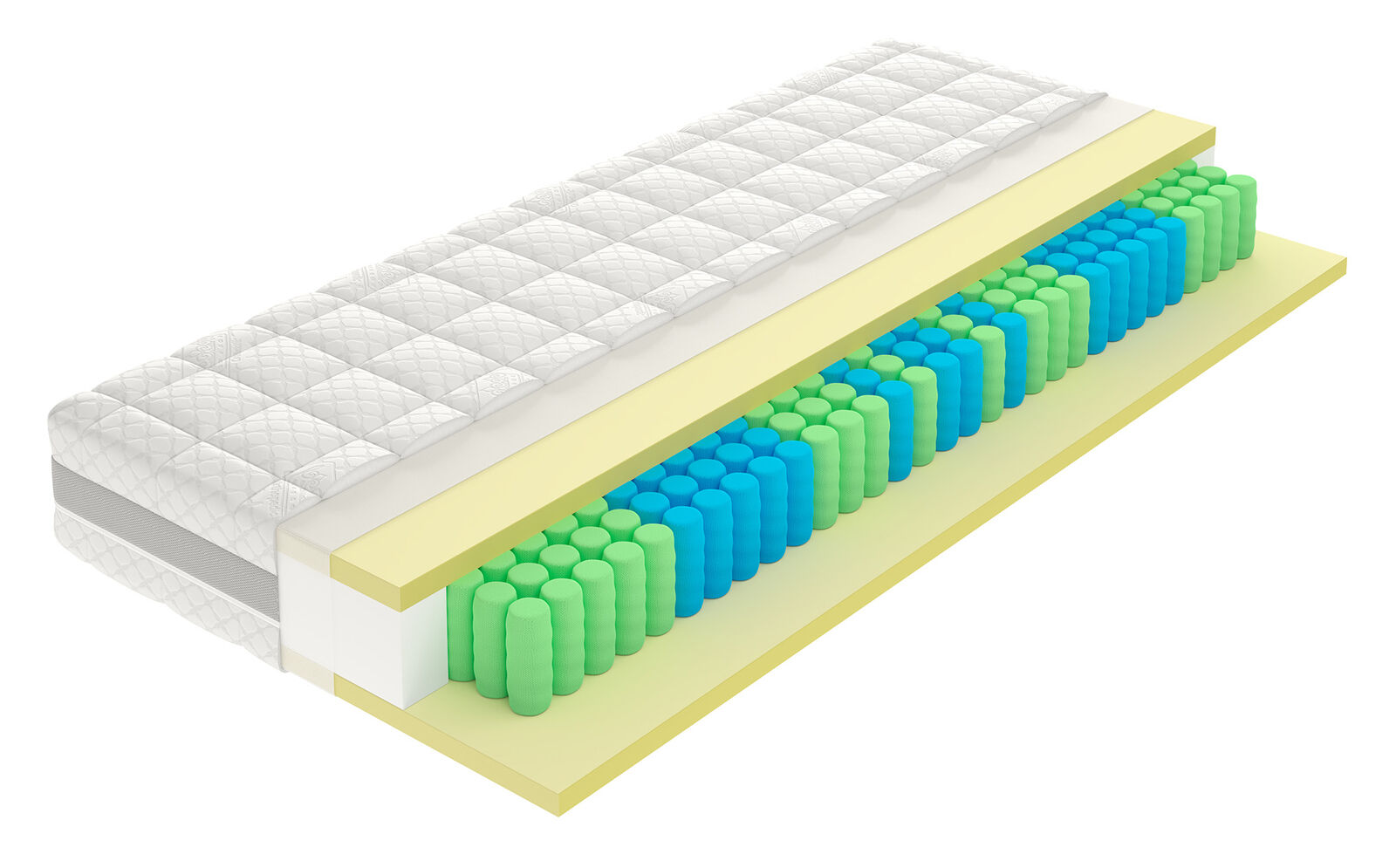 MSA Modern Latex Taschenfederkernmatratze 200 x 90cm   orthopädische Abstützung