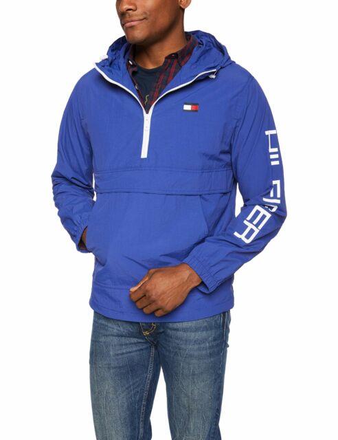 Tommy Hilfiger Men/'s Retro Lightweight Taslan Popover Jacket Choose SZ//Color