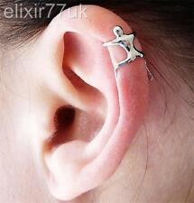 NEW SILVER GOLD CLIMBING MAN NAKED CLIMBER EAR CUFF CLIP HELIX CARTILAGE EARRING