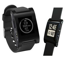 Pebble Smartwatch Wrist Watch(301BL)Activity Sleep Tracker+Call/Text/Email Black