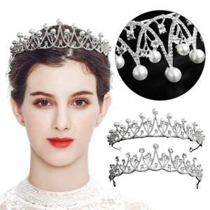 Bridal-Wedding-Diamond-Alloy-Tiara-Hair-Band-Princess-Prom-Crown-Headband