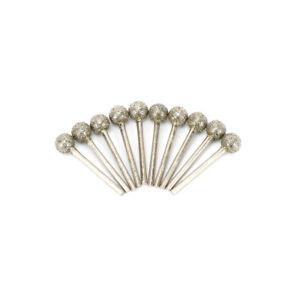 Ball Shape Diamond Coated Burr Grinding Head 1/8