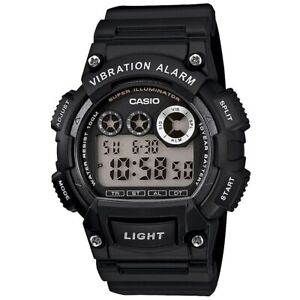 Casio-Uhr-W-735H-1A-Herren-Digitaluhr-Armbanduhr-Schwarz-Silber-NEU-amp-OVP