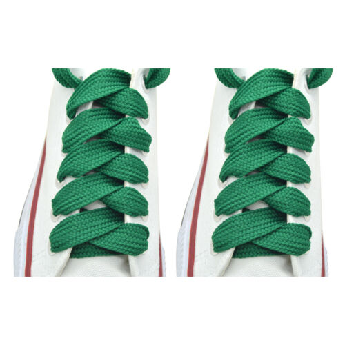 """52/"""" Thick Sneakers Athletic Shoelace String /""""Kelly Green/"""" Shoelaces 1,2,12Pairs"""