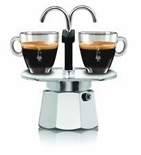 Bialetti 0007305 Mini Express Color Coffee Maker Set 2 Cups 2 Glasses Aluminium Green