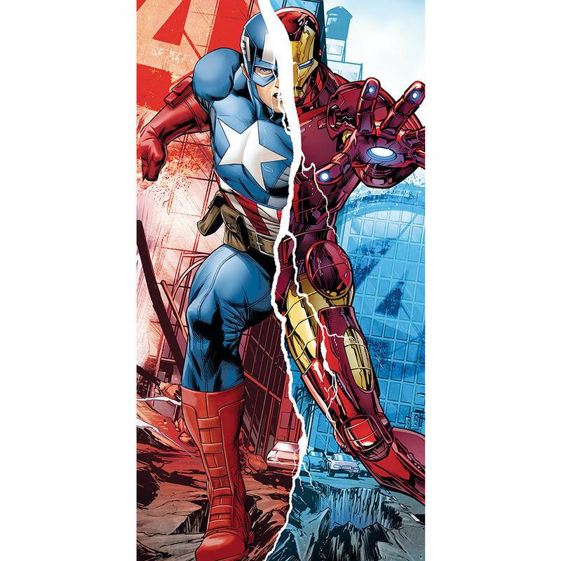 Toalla Vengadores Marvel Capitan America Iron Man algodon