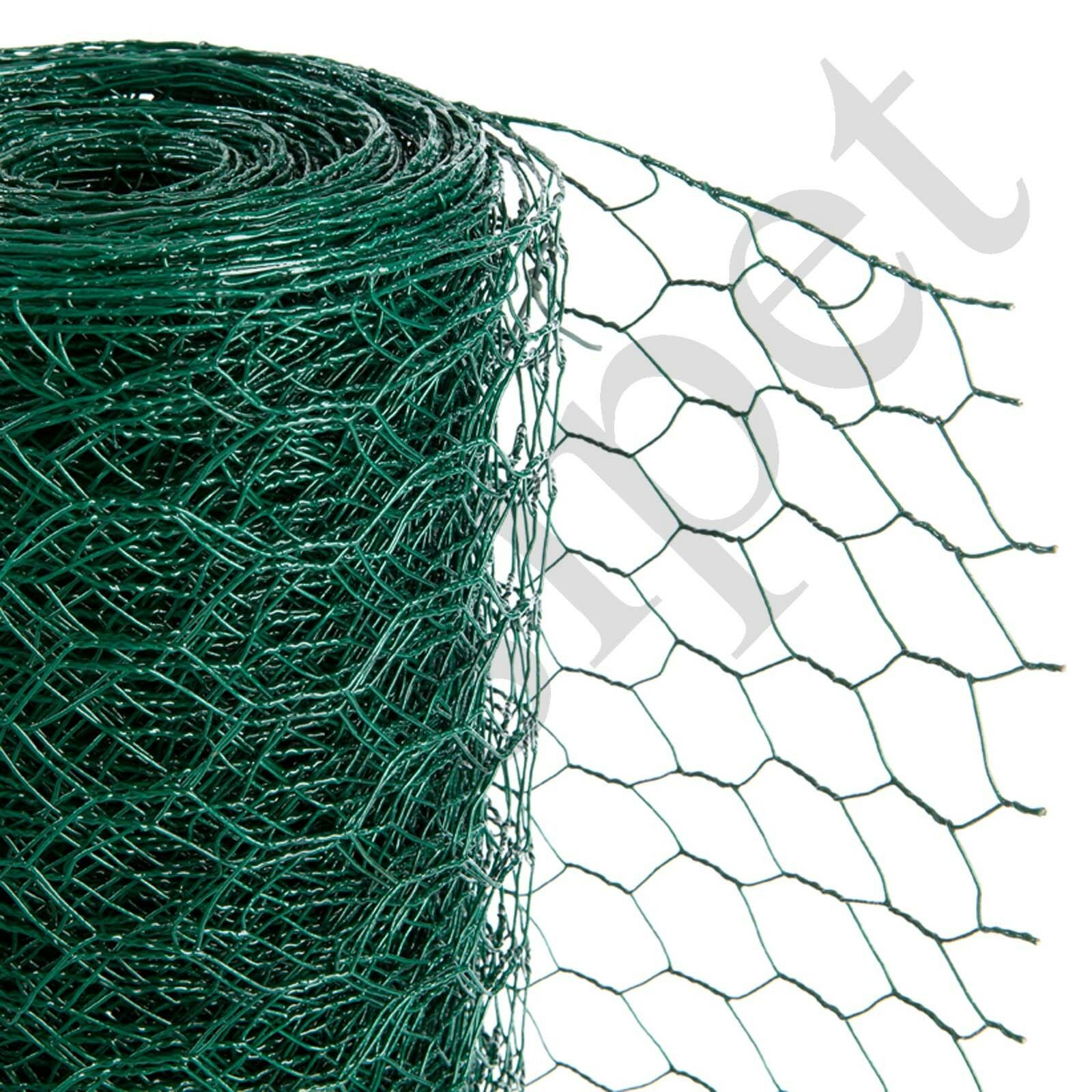 PVC Coated Green Chicken Wire Fencing in 3 Widths 50m Length 900mm ...