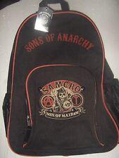 NWT Black Sons of Anarchy SOA SAMCRO Men of Mayhem Reaper Biker Backpack Bag