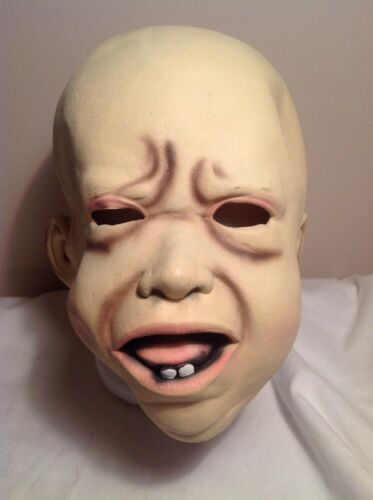 Crying Baby Mask Latex Head Full Face Creepy Scary Costume Halloween Party