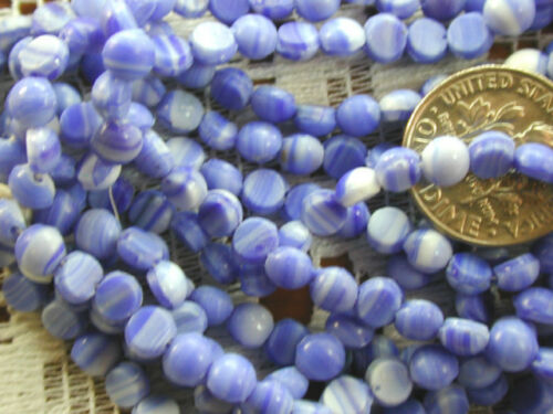 500 Vintage Delft Blue White 4mm Nailhead Beads Dome Top ENORMOUS Huge XL Lot!