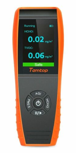 Temtop P600 Air Quality Monitor Particle Detector PM2.5 PM10 Recorder Histogram