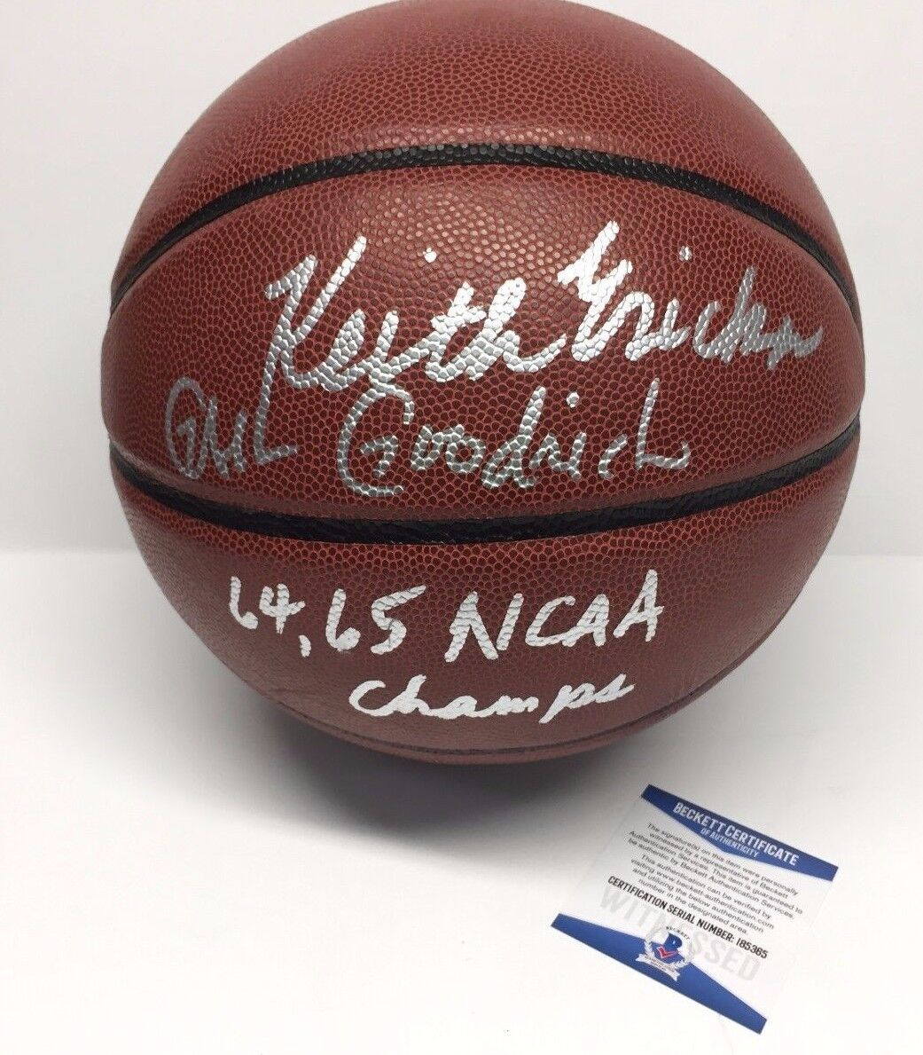 Keith Erickson & Gail Goodrich Signed Basketball