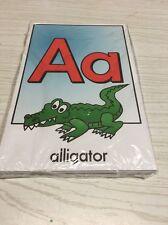26 cards - Full color Alphabet cards- Pre school Kindergarten Letters -Laminated