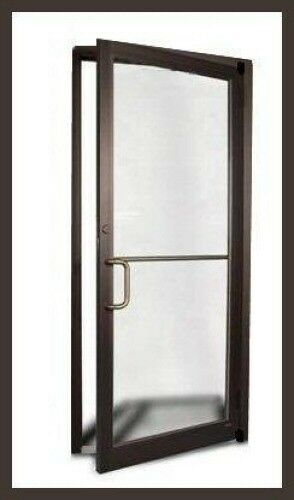 Commercial Aluminum Storefront Door Frame Dark Bronze Finish | eBay
